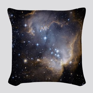 Deep Space Nebula Woven Throw Pillow