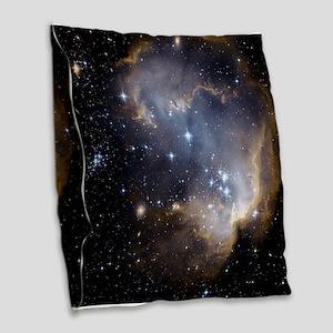 Deep Space Nebula Burlap Throw Pillow