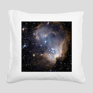 Deep Space Nebula Square Canvas Pillow