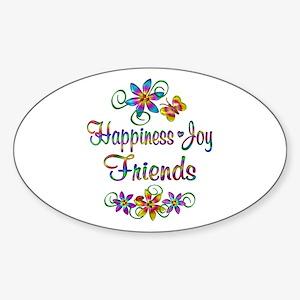 Happiness Joy Friends Sticker (Oval)