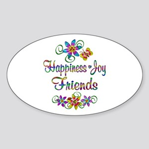 Happiness Joy Friends Sticker (Oval)