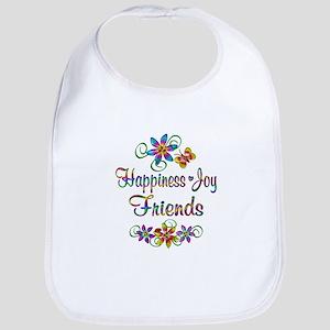 Happiness Joy Friends Bib