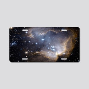 Deep Space Nebula Aluminum License Plate