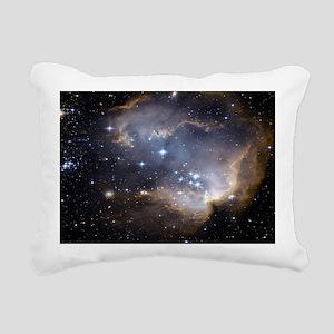Deep Space Nebula Rectangular Canvas Pillow
