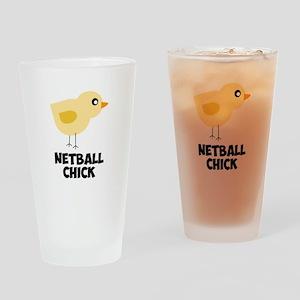 Netball Chick Drinking Glass
