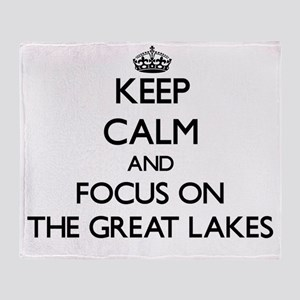 Keep Calm by focusing on The Great L Throw Blanket