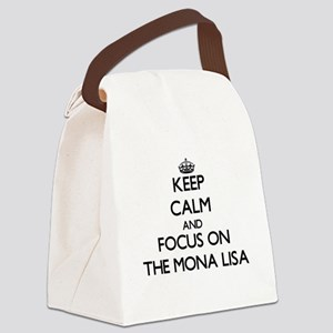Keep Calm by focusing on The Mona Canvas Lunch Bag