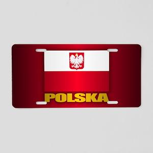Polska Aluminum License Plate