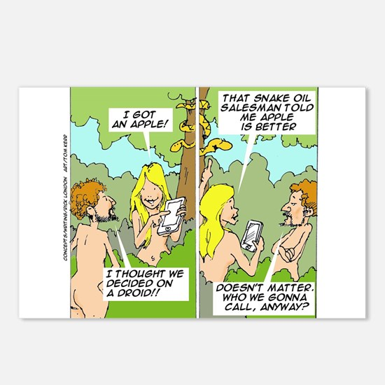 Adam & Eve & Phone Postcards (Package of 8)