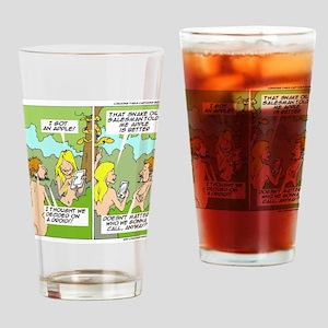 Adam & Eve & Phone Drinking Glass