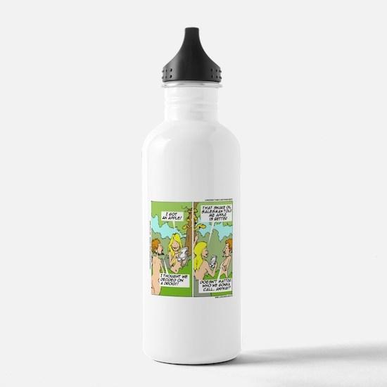 Adam & Eve & Phone Water Bottle