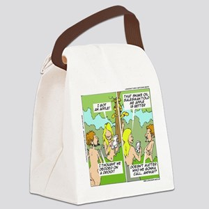 Adam & Eve & Phone Canvas Lunch Bag