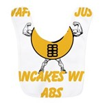 Waffles Are Just Pancakes with Abs Bib