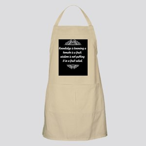 Knowledge is knowing that tomato is a fruit, Apron