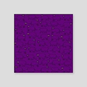 Purple kitty pattern Sticker