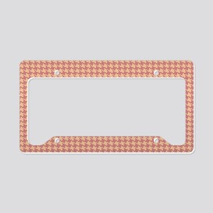 Retro Abstract Geometric Patt License Plate Holder