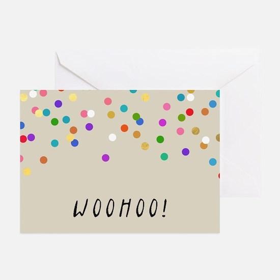 Confetti Woohoo Greeting Cards