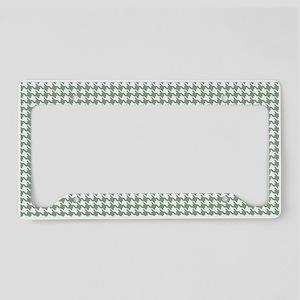 Retro Abstract Geometric Patt License Plate Holder