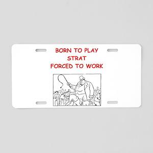 strat Aluminum License Plate