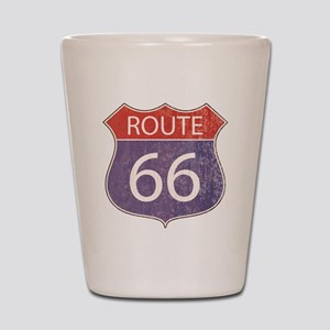 Route 66 Road Sign Shot Glass