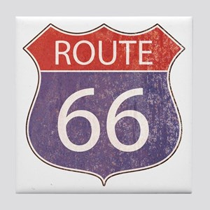 Route 66 Road Sign Tile Coaster