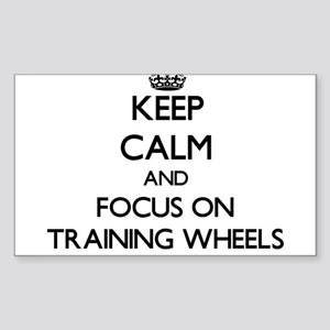 Keep Calm by focusing on Training Wheels Sticker