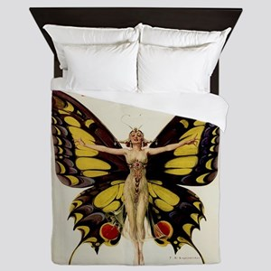 Vintage Life Flapper Butterfly Woman Queen Duvet
