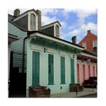 New Orleans Cottages Tile Coaster