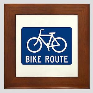 Bike Route Framed Tile