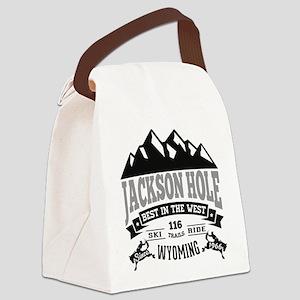 Jackson Hole Vintage Canvas Lunch Bag