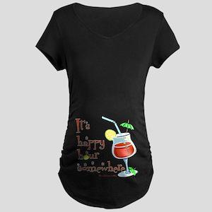 It's 5 O'Clock Somewhere Maternity Dark T-Shirt