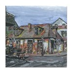 Old Black Smith Shop Tile Coaster