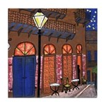 Night Cafe Tile Coaster