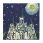 Starry Night Cathedral Tile Coaster
