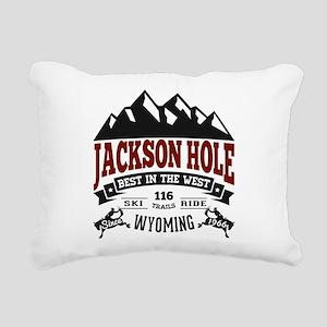 Jackson Hole Vintage Rectangular Canvas Pillow