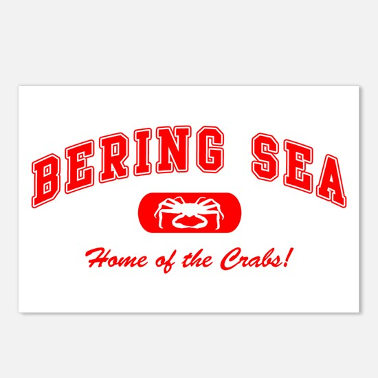 Bering Sea Home of the Crabs! Red Postcards (Packa