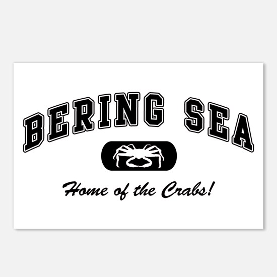 Bering Sea Home of the Crabs! Black Postcards (Pac