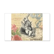 White Rabbit from Alice in Wonderland Wall Decal