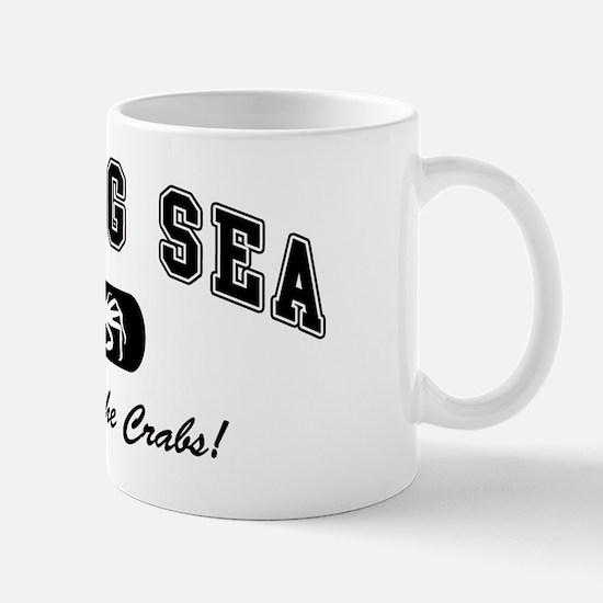 Bering Sea Home of the Crabs! Black Mug
