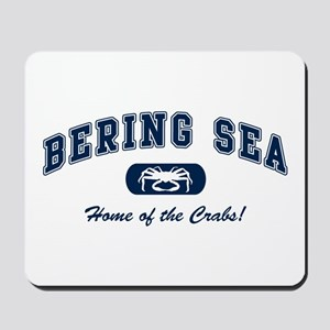 Bering Sea Home of the Crabs! Navy Mousepad