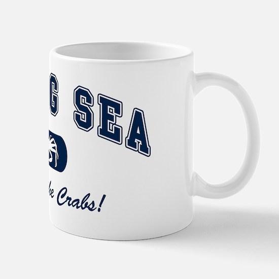 Bering Sea Home of the Crabs! Navy Mug