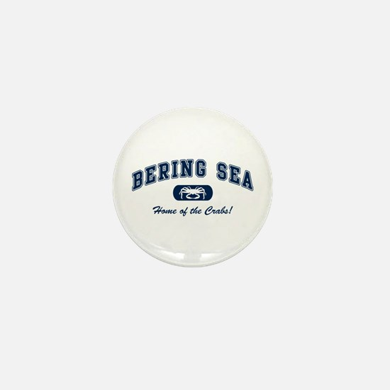 Bering Sea Home of the Crabs! Navy Mini Button