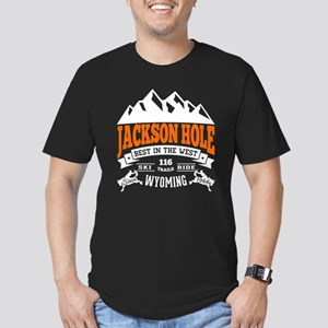 Jackson Hole Vintage Men's Fitted T-Shirt (dark)
