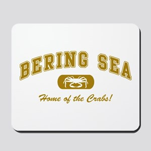 Bering Sea Home of the Crabs! Gold Mousepad