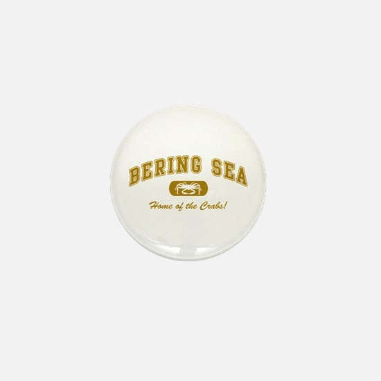 Bering Sea Home of the Crabs! Gold Mini Button