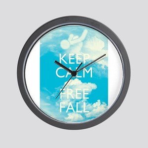 Keep Calm and Free Fall Wall Clock