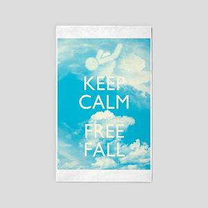 Keep Calm and Free Fall 3'x5' Area Rug