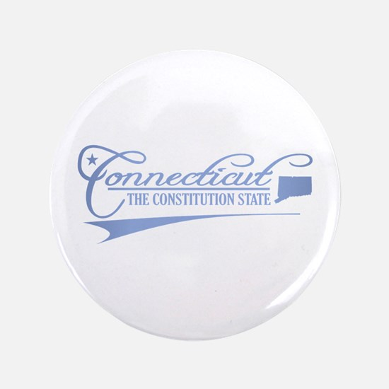 """Connecticut State of Mine 3.5"""" Button"""