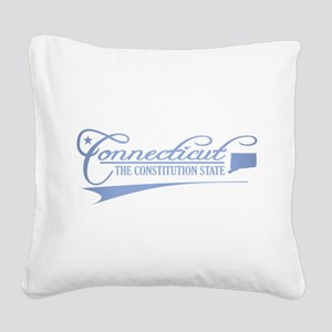 Connecticut State of Mine Square Canvas Pillow