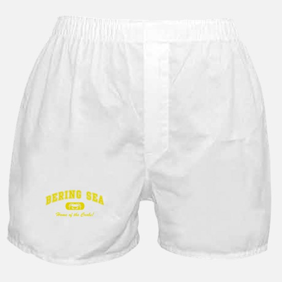 Bering Sea Home of the Crabs! Yellow Boxer Shorts